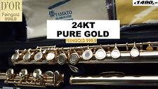 Flauta traversera Oro amarillo de 24 quilates  Flute professionell 24kt yellow E