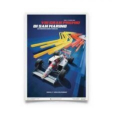 Ayrton Senna Mclaren MP4/4 San Marino GP Poster