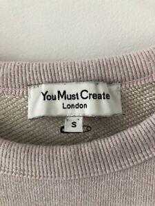 You Must Create 100/% Cotton YMC Two Colour Sweatshirt Fab L // XL BNWT