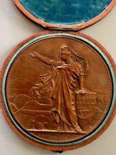 1870 EMPLOI DES AEROSTATS DEFENSE DE PARIS BRONZE MEDAL CHAPLAIN 75 mm BOX N145