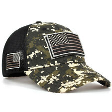 Military Combat Army Cap USA Flag Patches Camouflage Tactical Baseball Cap Hat