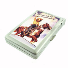 Western Pin Up Girl With Horse D 240 Cigarette Case Built in Lighter