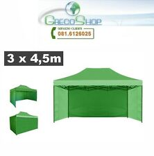 Teli laterali/Copertura gazebo pieghevole impermeabile 3x4,5m Verde Mod. Loop