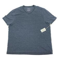 Lucky Brand Mens T Shirt V Neck Burnout Short Sleeve Gray XXL