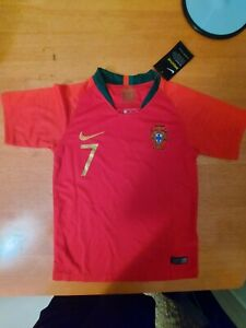 NEW NIKE RONALDO #7 PORTUGAL HOME JERSEY YOUTH KIDS SMALL / 22 WORLD CUP 2018