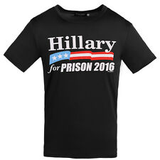 Hillary For Prison T-Shirt Conservative Republican Anti Hillary Clinton New Hot