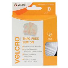 VELCRO® Brand Snag Free Sew On Tape Hook & Loop 20mm x 3M White (1.5M Closure)