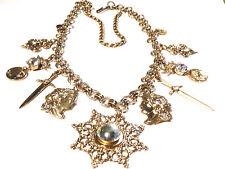 Bijou alliage doré collier breloques necklace