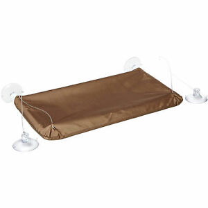 Oster Sunny Seat Cat Window Hammock Perch Bed, Supports Up to 50 Pounds, Brown