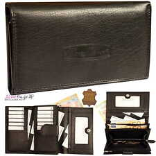 ♥Damen Börse Geldbörse Geldbeutel Portemonnaie echt Leder Querformat Moneymaker♥