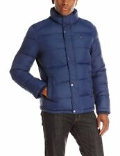TOMMY HILFIGER NYLON PUFFER JACKET. NAVY BLUE, SIZE EXTRA EXTRA LARGE 2XL, NEW