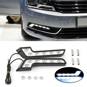 L Shaped 6LED 4.8W Driving Fog Light Daytime Running Lamp  Car Accessory 2Pcs