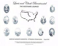 BEP Souvenir Card B272 ANA 2004 Lewis & Clark Westward Journey Intaglio