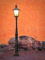 VINTAGE LAMPOST TERRACOTTA WALL PHOTO ART PRINT POSTER PICTURE BMP1451A