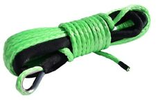 "Green 1/4""x50ft ATV Winch Line,Synthetic Winch Cable,Spectra Winch Rope"