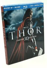 Thor 3D (Blu-ray 3D+Blu-ray+DVD+Digital, 2011; Limited Ed.) NEW w/ OOP Slipcover