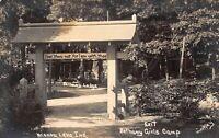 Real Photo Postcard Lodge at Bethany Girls Camp in Winona Lake, Indiana~121483
