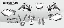 KIT ADESIVI GRAFICHE INSTINCT GREY YAMAHA YZ 125 250 2002 2003 2004