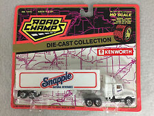 Road Champs 1994 Snapple Kenworth Tractor Trailer HO Scale Diecast Semi Truck