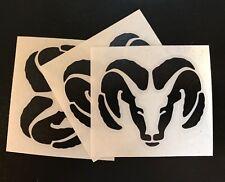 """3 X RAM Vinyl Decal Sticker , 3"""" Wide. DIE CUT Black"""