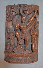 Original Old Antique Big Wooden Fine Hand Carved God Vishnu Idol Figurine