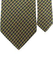 "Beaufort Tie Rack 100% Silk Chainlink Neck Tie Yellow Multi 3 7/8"" x 59"""