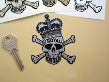 "ROYAL ENFIELD Skull & Crossbones in Crown Bike STICKER 3"" Continental Bullet GT"