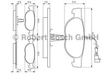 Bremsbelagsatz Scheibenbremse - Bosch 0 986 424 246