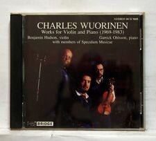BENJAMIN HUDSON, GARRICK OHLSSON - WUORINEN violin & piano works BRIDGE CD NM