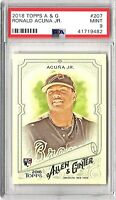 2018 Topps Allen & Ginter #207 RONALD ACUNA RC Rookie Card PSA MINT 9