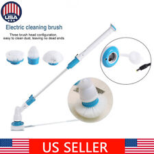 3 Heads Electric Scrubtastic Spin Scrubber Cleaning Brush Bathroom Floor Home