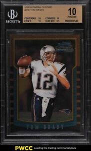 2000 Bowman Chrome Tom Brady ROOKIE RC #236 BGS 10 PRISTINE