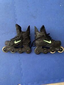 NIKE Zoom Air Hockey Rollerblades Inline Roller Skates size 9 Mens