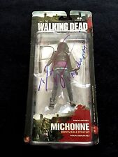 "DANAI GURIRA SIGNED 'THE WALKING DEAD' MCFARLANE FIGURE ""MICHONNE"" PSA/DNA"