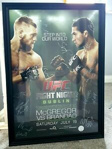 Conor Mcgregor Ufc Dublin Signed Poster