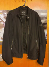 Armani Smart Black Bomber Jacket - Size XS