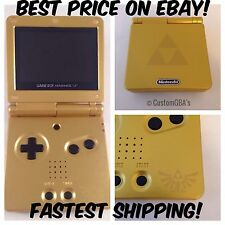 New! Custom Nintendo Gameboy Advance SP -Zelda -Brighter Screen! AGS-101 -Mint!