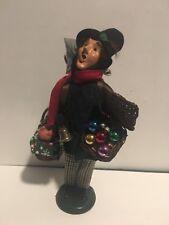 Byers Choice Caroler Cries of London Glass Christmas Ornament Vendor
