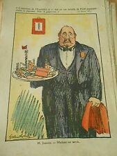 M. Jouhaux Madame est servie Humour Politique Print 1937