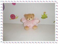 § - Doudou Ours  Boule Patapouf  Rose  Beige  Collection Fur  Kaloo