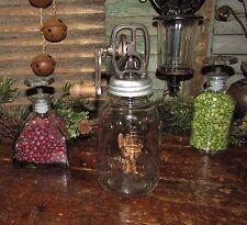 Primitive Antique Vtg Style Mason Butter Churn Glass Jar Nov 30th 1858 Crank Lid