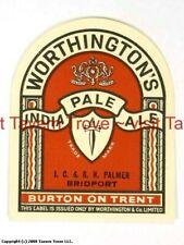 1950s-60s England Worthington's Jc & RH Palmer Bridport India Pale Ale