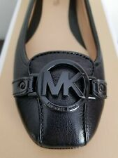 Michael Kors Fulton Moc Mk черный логотип черная гладкая кожа мокасины я люблю обувь