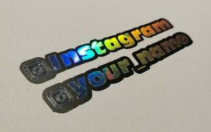 INSTAGRAM Sticker X2 Car Sticker Personalised Holographic & Black YOUR NAME