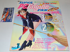 SUPER PC ENGINE FAN DELUXE vol. 1 Libro Rivista con 2 CD-ROM DUO-RX NUOVO RARO