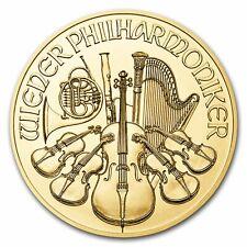 1/25 troy oz 999.9 Fine Gold Bullion Austrian Philharmonic Coin 2018