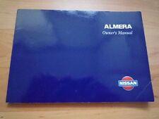 MF NISSAN ALMERA N15 Owners Manual Hand book Pulsar Sentra GA14DE GA16DE CD20 95