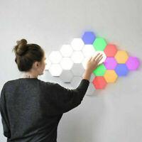6*LED Magnetic Modular Quantum Hexagonal Wall lamp Touch Sensitive Night Light