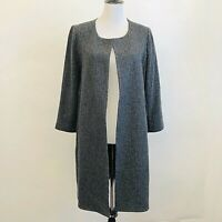 Eileen Fisher Duster Cardigan Gray Size Medium EUC Womens $398