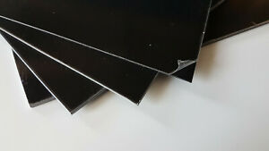 Styrene Sheet Black 1, 1.5, 2 & 3mm thick Matt/Gloss Solid Plasticard bulk Qty